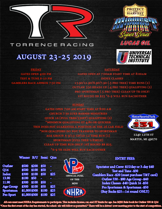 Schedule : Midwest Jr Super Series